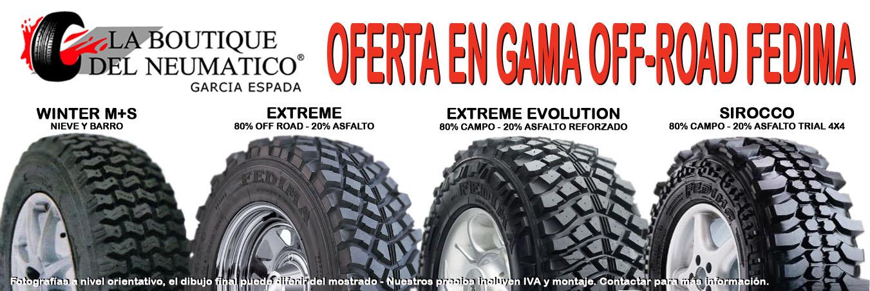 Oferta Neumáticos 4x4 Fedima